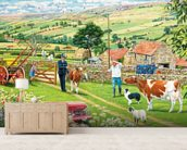 Returning A Stray Calf mural wallpaper living room preview