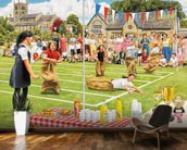 School Sports Day wall mural kitchen preview