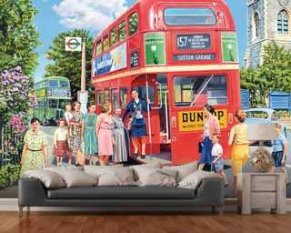 The Bus Conductress wallpaper mural