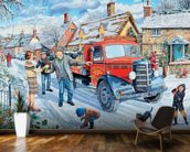 The Coalman mural wallpaper kitchen preview