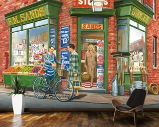 The Corner Shop wall mural