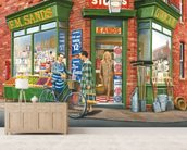 The Corner Shop wall mural living room preview