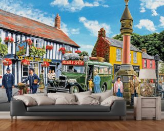 The Market Place mural wallpaper