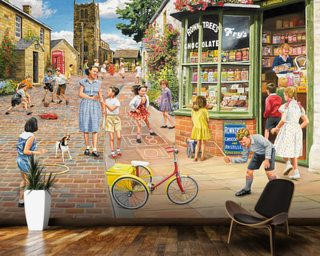 The Sweet Shop Mural Wallpaper Wallpaper Wall Murals