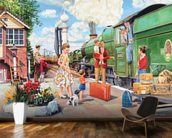 The Train Driver wall mural kitchen preview