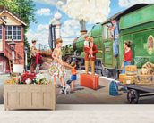 The Train Driver wall mural living room preview