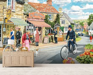 The Village High Street Wall Mural Wallpaper Wall Murals