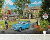 The Village Tea Rooms wall mural in-room view