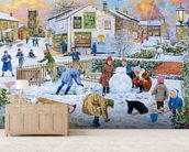 Winter Games mural wallpaper living room preview