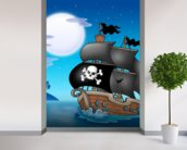 Pirates wall mural in-room view