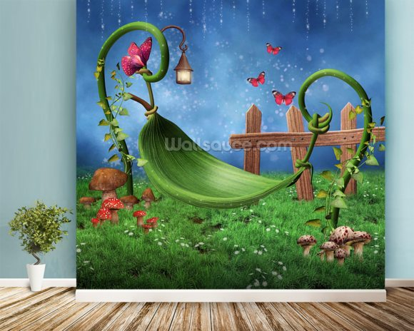 Magic Garden Wallpaper Wall Mural Wallsauce USA