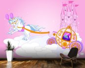 Cinderella Carriage wallpaper mural kitchen preview