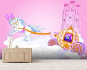 Cinderella Carriage wallpaper mural living room preview