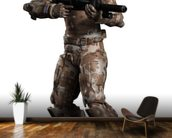 Space Marine Trooper in Camouflage mural wallpaper kitchen preview
