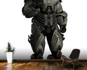 Soldier in futuristic body armour wall mural kitchen preview