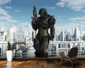 Space Marine Commando - City Patrol mural wallpaper kitchen preview