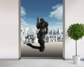 Space Marine Commando - City Patrol mural wallpaper in-room view