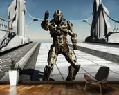 Space Marine Trooper on the Bridge wallpaper mural kitchen preview