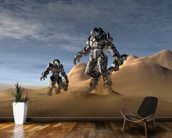 Soldiers wearing a stealth suit. wall mural kitchen preview