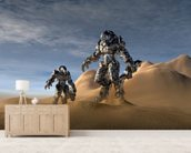 Soldiers wearing a stealth suit. wall mural living room preview