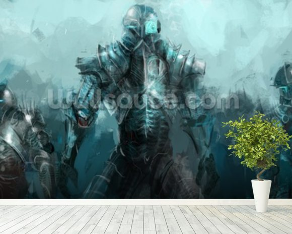 Cybernetics army wallpaper wall mural wallsauce for Army wallpaper mural