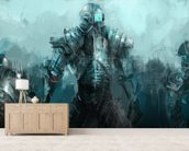 Cybernetics army wall mural living room preview