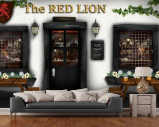 Village Pub Wallpaper Wall Murals