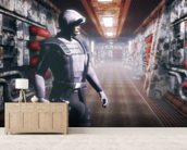 Space soldier wall mural living room preview