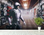 Space soldier wall mural in-room view
