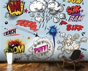 Comic Explosions mural wallpaper kitchen preview