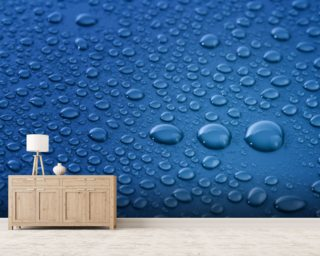 Water drops mural wallpaper