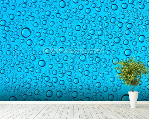 Droplets on Glass wall mural room setting