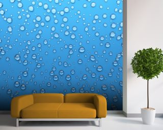 Droplets wallpaper mural