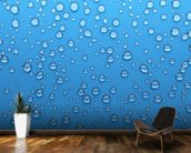 Droplets wallpaper mural kitchen preview