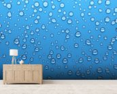 Droplets wallpaper mural living room preview