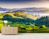 Mountains Landscape mural wallpaper living room preview
