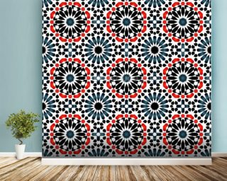 Islamic pattern mural wallpaper