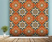 Arabesque seamless pattern in editable vector file wall mural in-room view