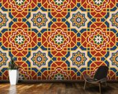 Arabesque seamless pattern in editable vector file wall mural kitchen preview