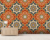 Arabesque seamless pattern in editable vector file wall mural living room preview