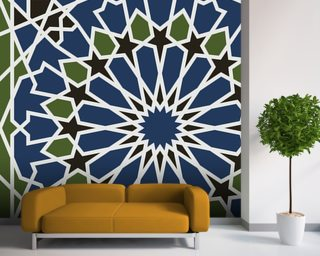 Arabesque seamless pattern mural wallpaper