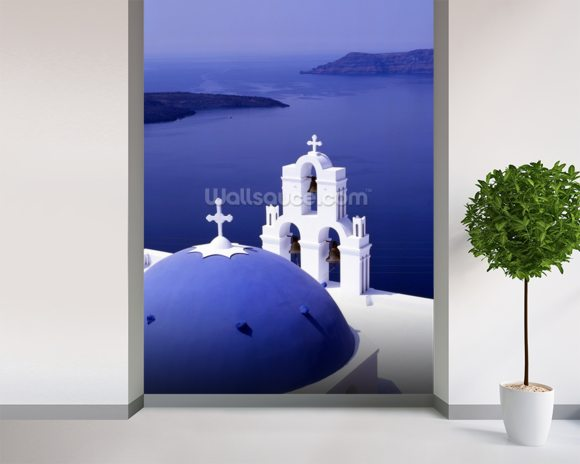 Sea View, Santorini wallpaper mural room setting