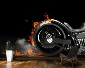 Motorcycle Burnout mural wallpaper kitchen preview