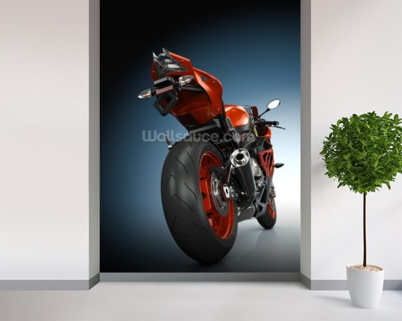 Motorbike wall mural room setting