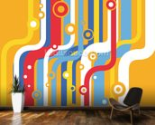 Retro Colourful Lines wallpaper mural kitchen preview