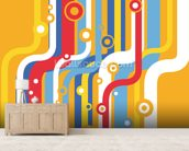 Retro Colourful Lines wallpaper mural living room preview