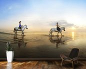 Beach Horse Riding mural wallpaper kitchen preview