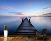 Calm Jetty View mural wallpaper kitchen preview