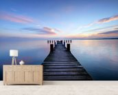 Calm Jetty View mural wallpaper living room preview