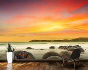 Moeraki Boulders mural wallpaper kitchen preview